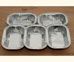 1/2LB Foil Pie Ashet Rectangle Aluminium Dish, Meat Steak,Disposable x 10