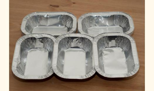 1/2LB Foil Pie Ashet Rectangle Aluminium Dish, Meat Steak,Disposable x 500