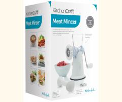 Kitchen Tabletop Manual Meat Mincer Transparent with 2 blades included