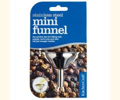 2 x Kitchen Craft Stainless Steel Mini Funnel (5.5cm)
