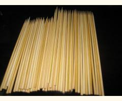 100 X 30 cm / 12in Extra Thick Food Grade Wooden Bamboo BBQ Skewers - 4mm