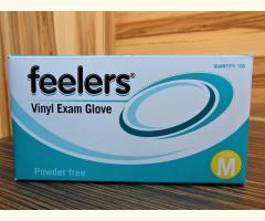 Powder-Free Disposable Vinyl Gloves (100) - Clear