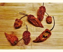 Naga Chilli / Ghost Pepper Dried Chilli Pods - Whole Stemless