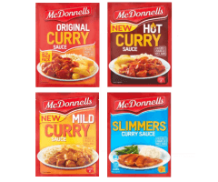 McDonnells Curry Sauce Multipack (Original, Mild, Hot, Slimmer) - 12 Pack