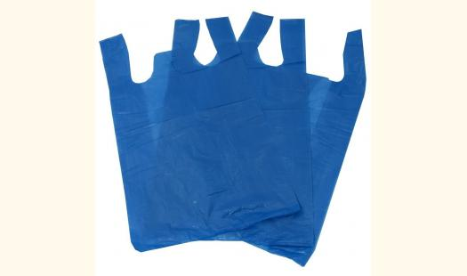 Hi Tensile Blue Vest Carrier Bags (18microns) - 11x17x21 - 1000 Pack