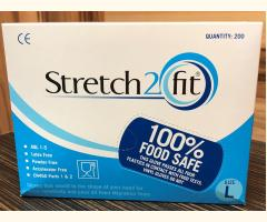Stretch2Fit Latex-Free Unpowdered Gloves - Large Blue - 200 Pack