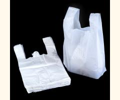Large Hi Tensile White Vest Carrier Bags - 330x500mm - 1000 Pack