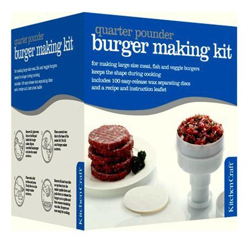 Burger Press/Maker - 8.5cm - With Free Burger Mix, 100 Wax Discs & Recipes